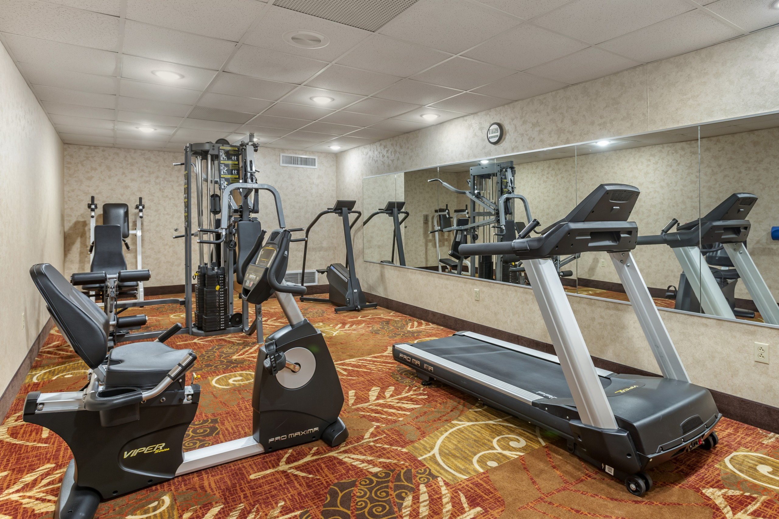 Branson Missouri Hotel Comfort inn and suites fitness room