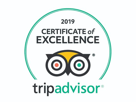 2019 Certificate of Excellence tripadvisor award
